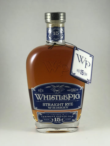 Whistle pig straight Rye whiskey 15years