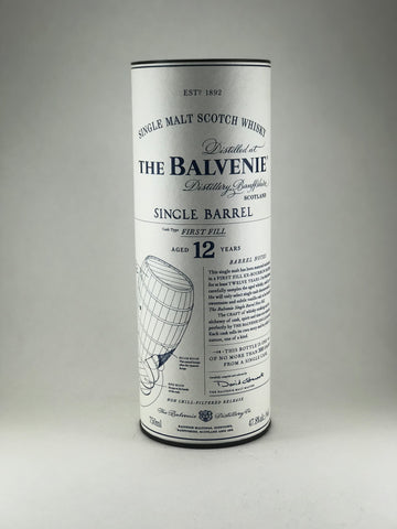 The Balvenie aged 12 years cask first fill