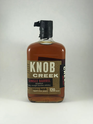 Knob Creek single barrel (120proof)