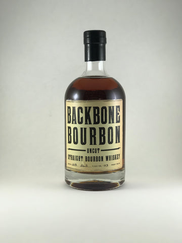 Backbone bourbon uncut distilled in 2008 bottle in 2016