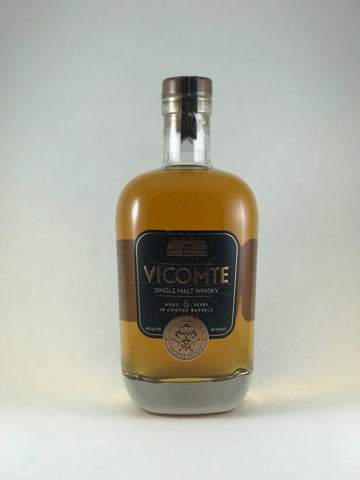 Vicomte Single malt French whiskey aged in cognac barrell