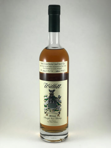 Willet straight Rye 3 years