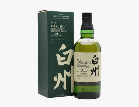 The hakushu single malt Japanese whisky 12 years