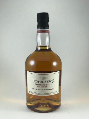 LEOPOLD BROS Maryland-style Rye whiskey