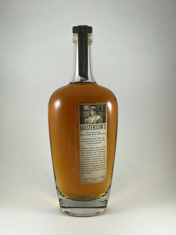 Masterson's straight Rye whiskey 10years old