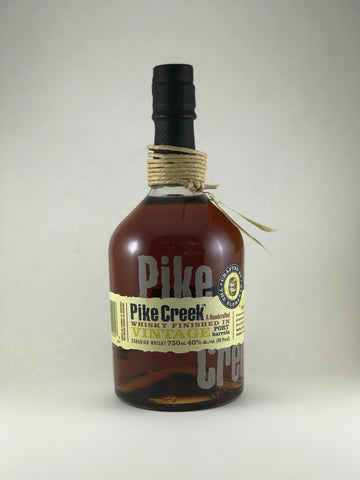 Pike Creek whiskey vintage finished in port barrel
