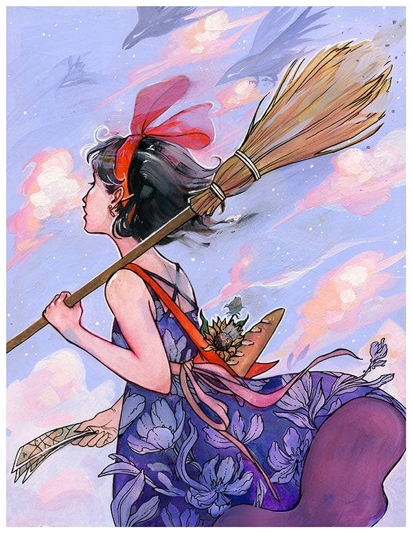 """Windy Witch"" Print"