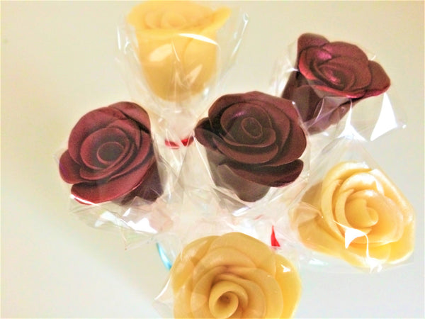 Luxury Chocolate Rose Lollipops