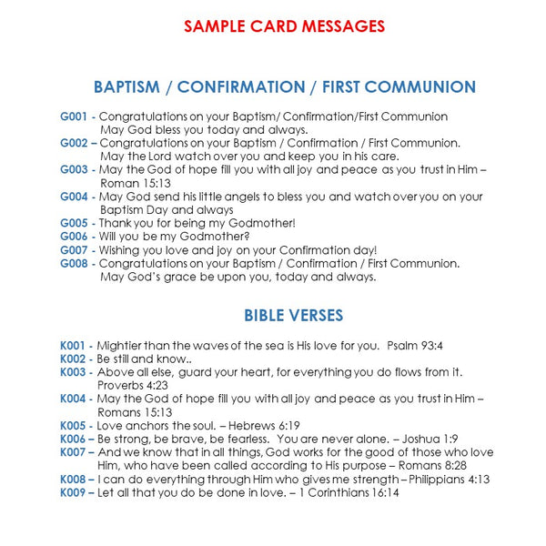 baptism bible verses sample messages