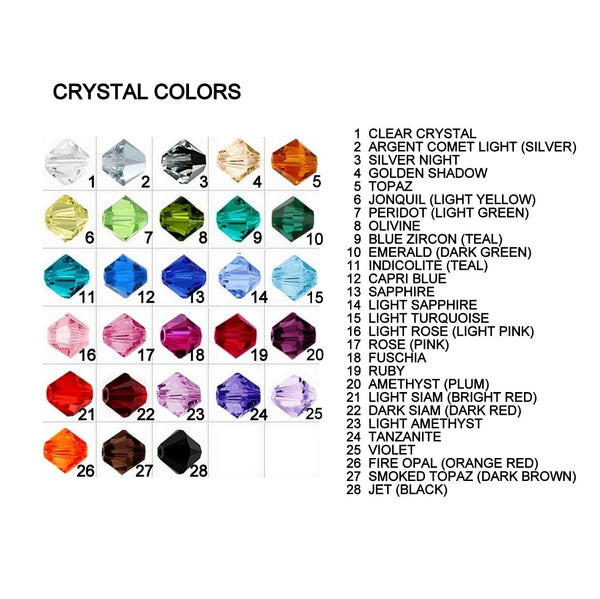 6mm bicone crystal color chart