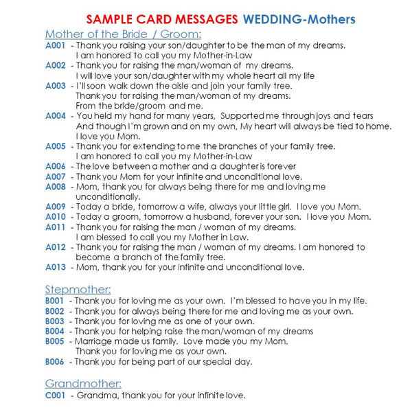 sample messages for mothers