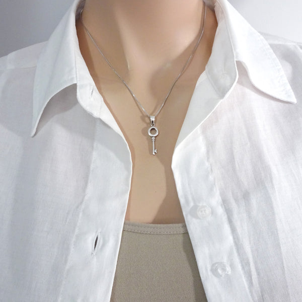 key necklace on a model mannequin