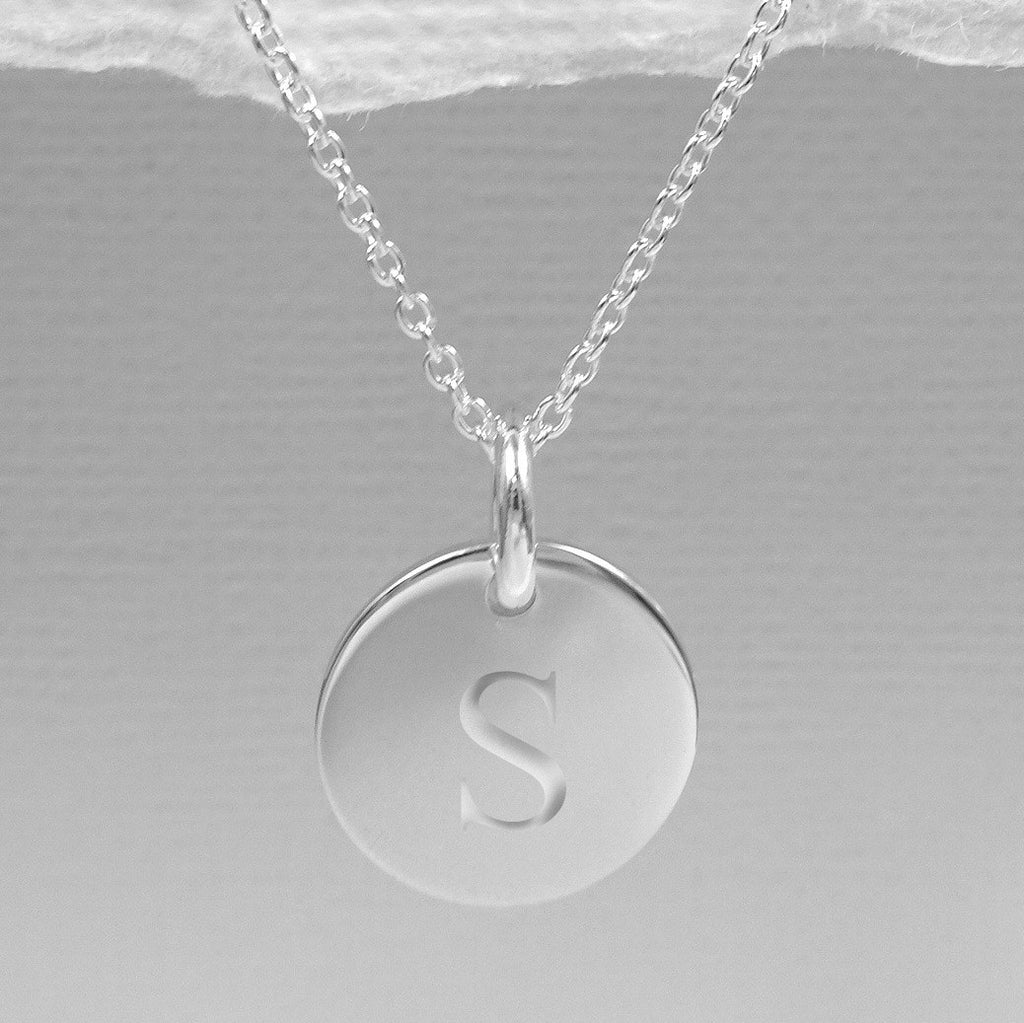 engraved disc necklace