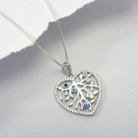 heart tree of life necklace