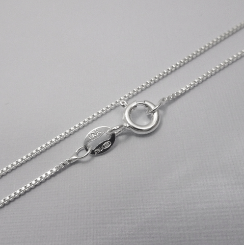 Sterling Silver Box Necklace Chain