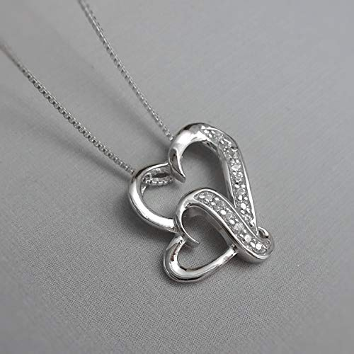 double heart necklace