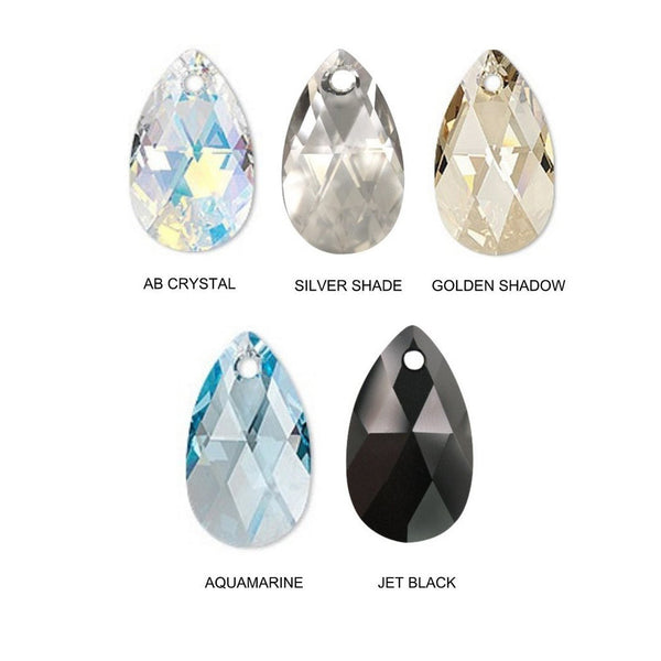 flat faceted pear crystal color chart