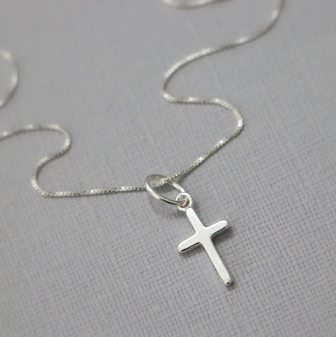 Tiny Simple Cross Necklace