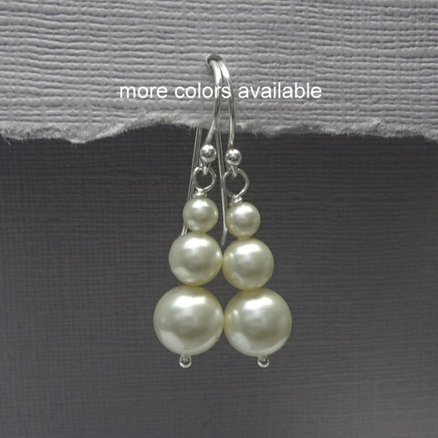 ivory pearl earrings