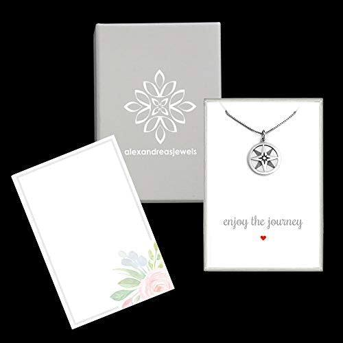 compass necklace with packaging