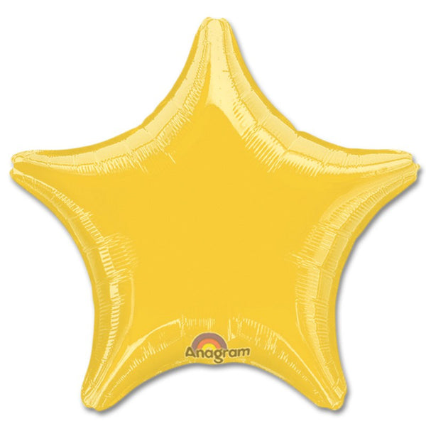 "18"" SOLID COLOR STAR FOIL BALLOON"