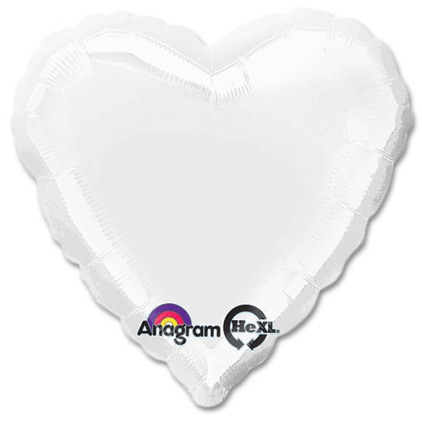 "18"" SOLID COLOR HEART FOIL BALLOON"
