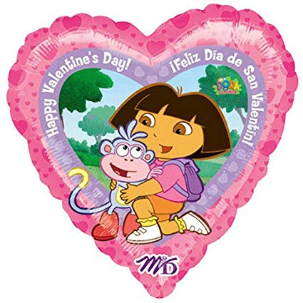 "18"" DORA VALENTINES DAY FOIL BALLOON (375)"