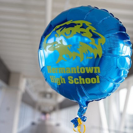 "18"" HERMANTOWN SCHOOL LOGO PRINTED FOIL BALLOON (401)"