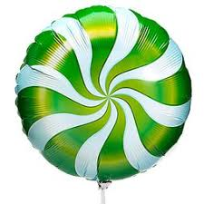 "18"" CANDY SWIRL GREEN FOIL BALLOON (532)"