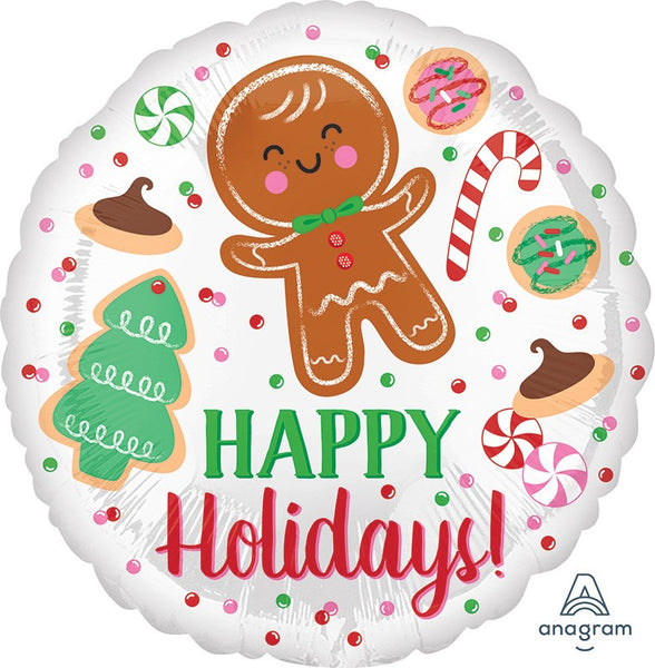 "18"" HOLIDAY COOKIES FOIL BALLOON"