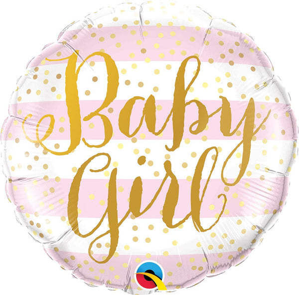 "18"" BABY GIRL PINK STRIPES (175)"