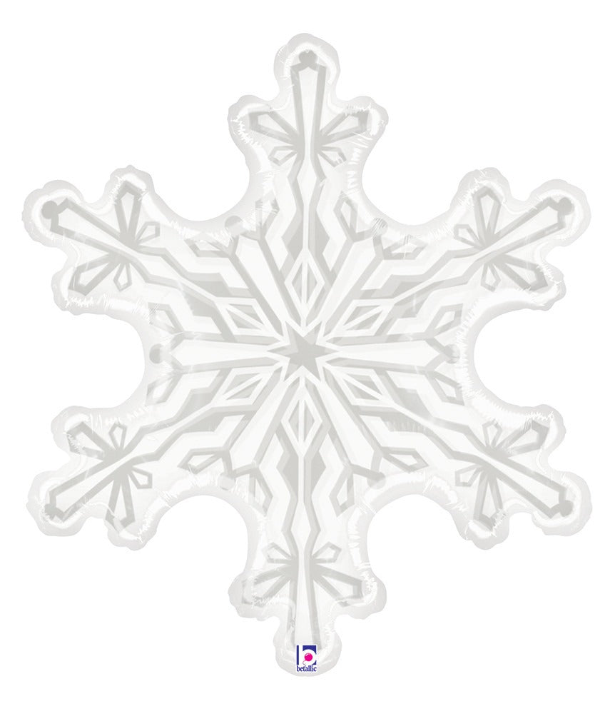 "38"" CLEAR SNOWFLAKE FOIL BALLOON"