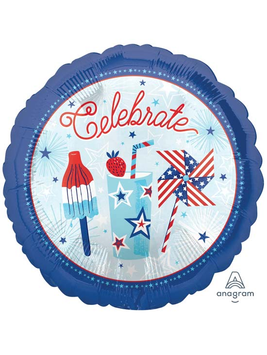 "18"" CELEBRATE USA FOIL BALLOON (458)"