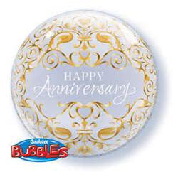 "22"" ANNIVERSARY CLASSIC BUBBLE BALLOON (305)"
