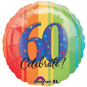 "18"" ATP A YEAR TO CELEBRATE 60 FOIL BALLOON (209)"