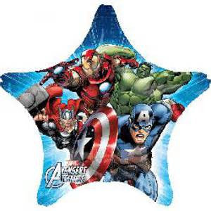 "29"" AVENGERS ASSEMBLE STAR FOIL BALLOON (157)"