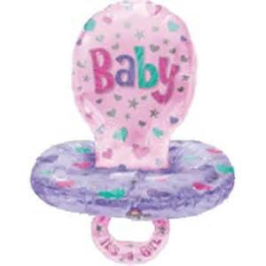 "59"" BABY GIRL PACIFIER FOIL BALLOON (342)"
