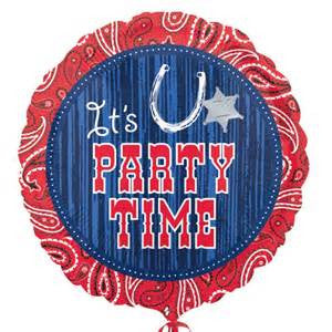 "18"" BANDANA AND BLUE JEANS PARTY TIME FOIL BALLOON (186)"