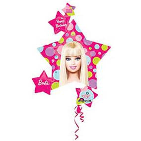 "36"" BARBIE PATTERN CLUSTER FOIL BALLOON (129)"