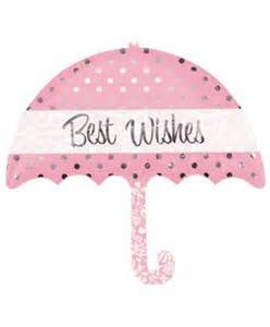 "30"" BEST WISHES UMBRELLA FOIL BALLOON (257)"