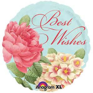 "18"" BLISSFUL BLOOM BEST WISHES FOIL BALLOON (271)"