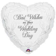 "18"" WEDDING WISHES FOIL BALLOON (593)"