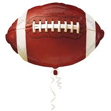 "18"" FOOTBALL MYLAR FOIL BALLOON (596)"