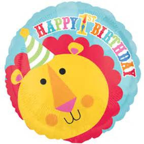 "18"" FISHER PRICE LION 1ST BDAY FOIL BALLOON (116)"