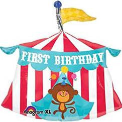 "23"" FISHER PRICE TENT 1ST BDAY FOIL BALLOON (166)"
