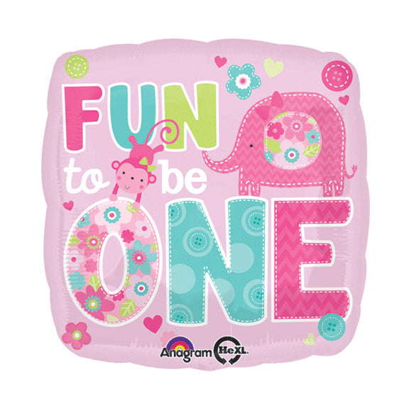 "18"" FUN TO BE ONE GIRL FOIL BALLOON (95)"