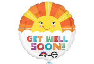 "18"" GET WELL SOON SMILEY SUNSHINE FOIL BALLOON (181)"