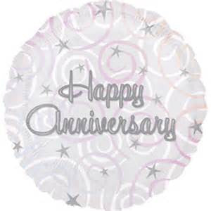 "18"" HAPPY ANNIVERSARY SWIRLS FOIL BALLOON (329)"