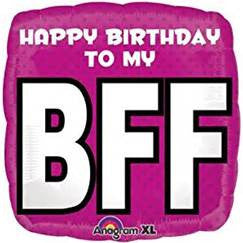 "18"" HAPPY BIRTHDAY TO MY BFF FOIL BALLOON (351)"