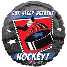 "18"" EAT, SLEEP, BREATHE HOCKEY FOIL BALLOON (245)"